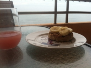 Healthy Breakfast on the Balcony